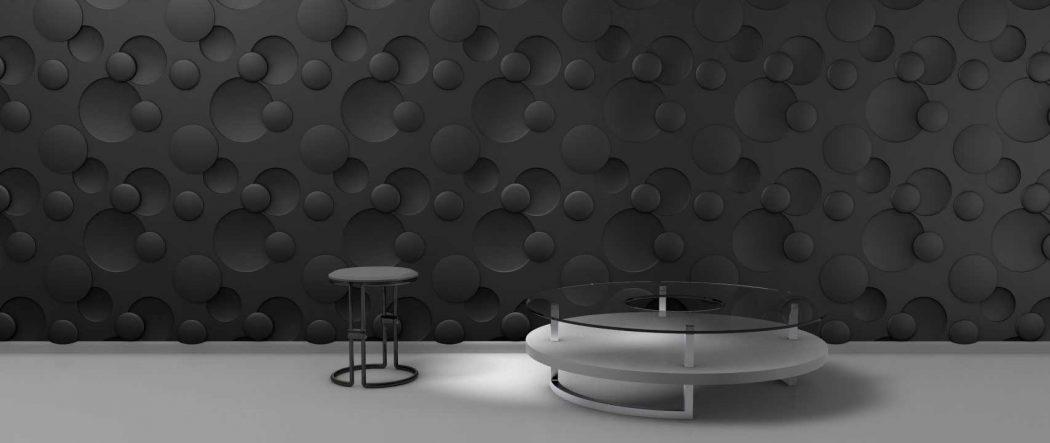 Panou decorativ 3D perete BUBBLE