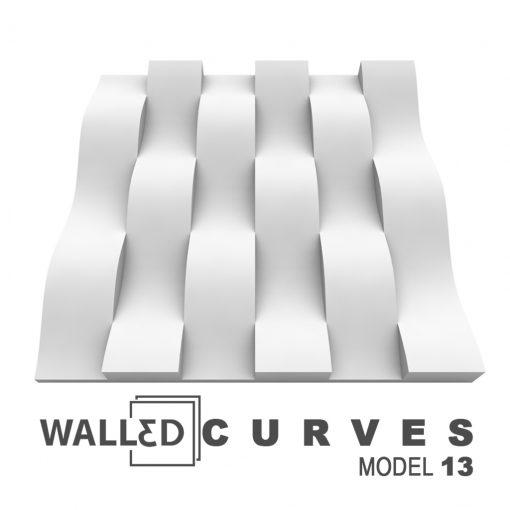 Panou decorativ 3D perete CURVES