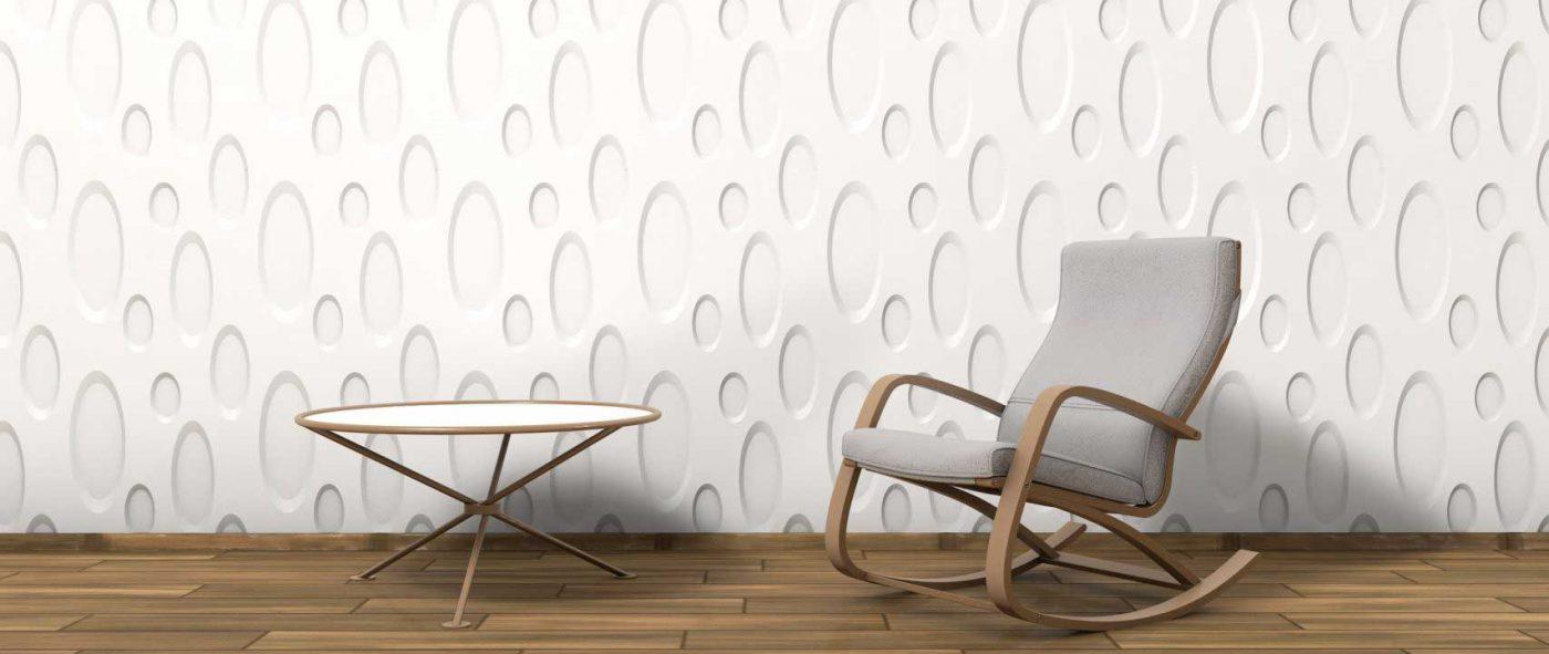 Panou decorativ 3D perete ELLIPSE