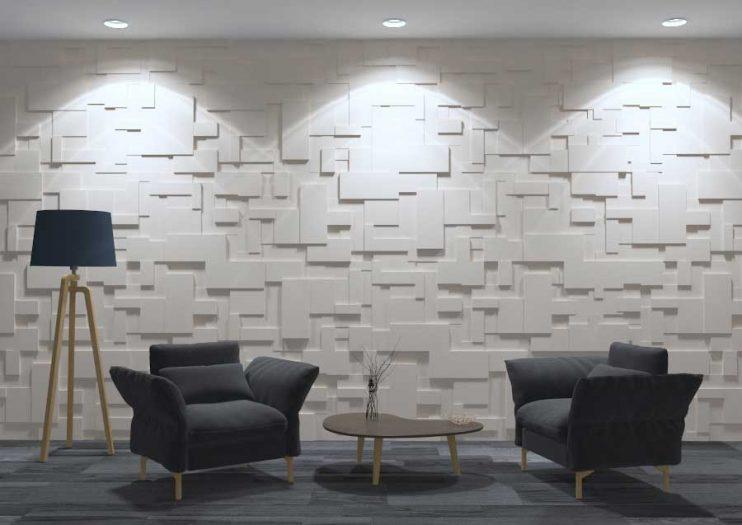 Panou decorativ 3D perete TETRA S