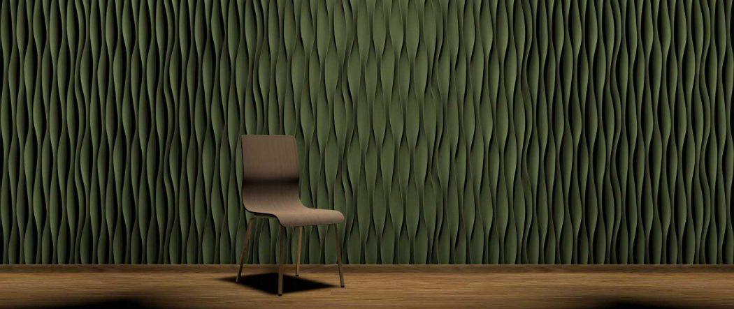 Panou decorativ 3D perete WAVES