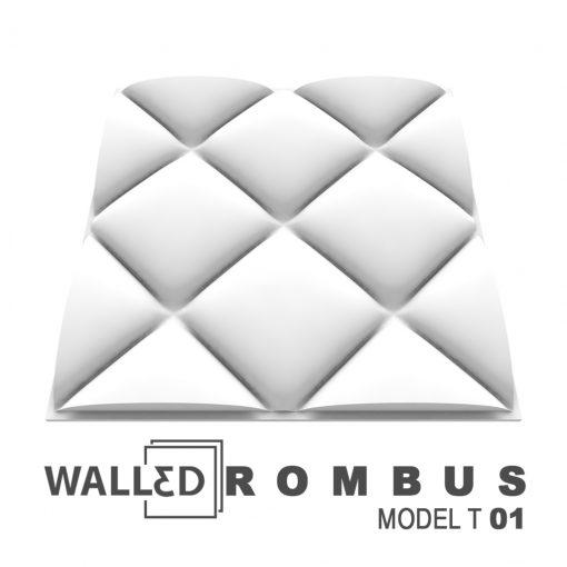 Placa decoratia 3D tavan ROMBUS