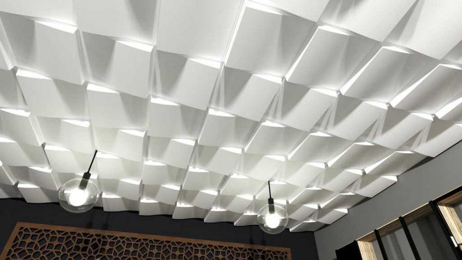 Placa decorativa 3D tavan SAHARA