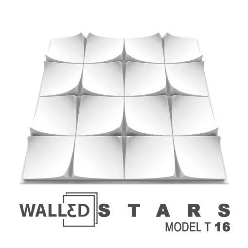 Placa decorativa 3D tavan STARS