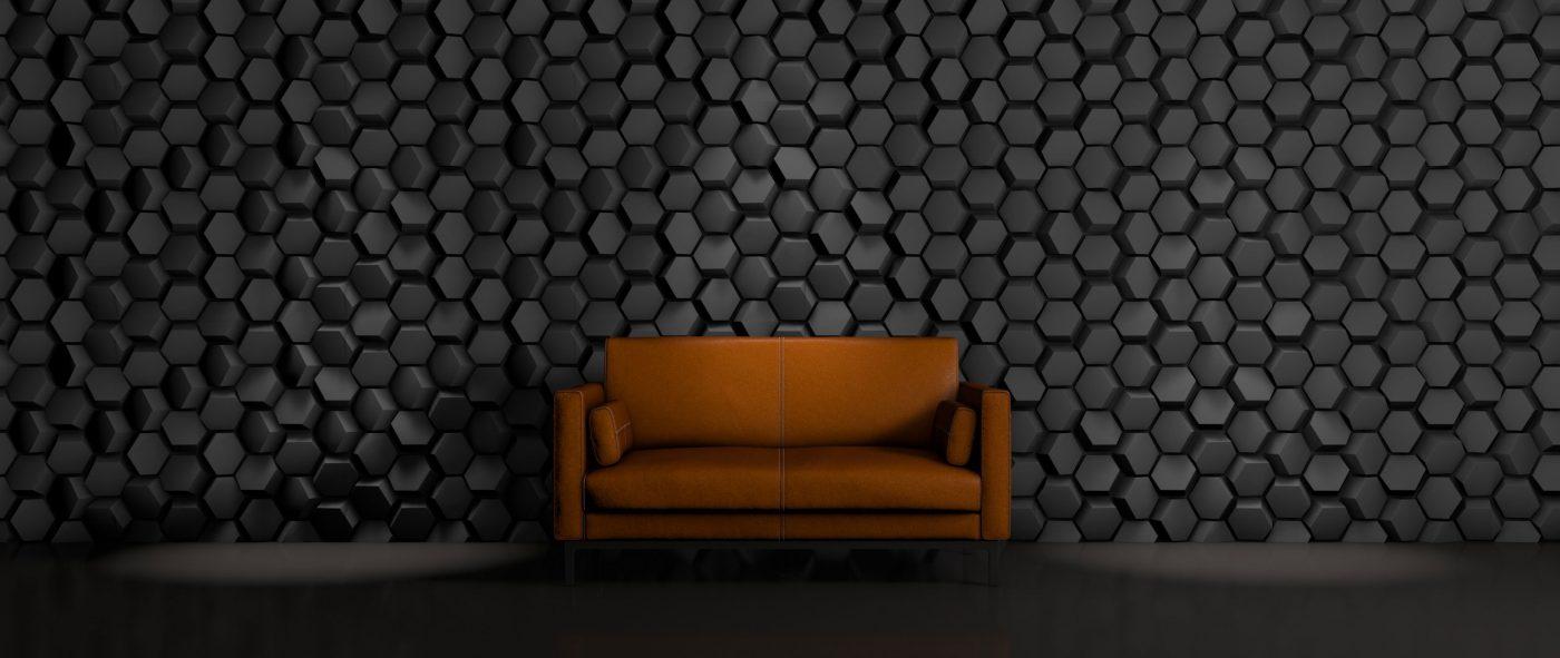 Panou decorativ 3D perete HEMATITE