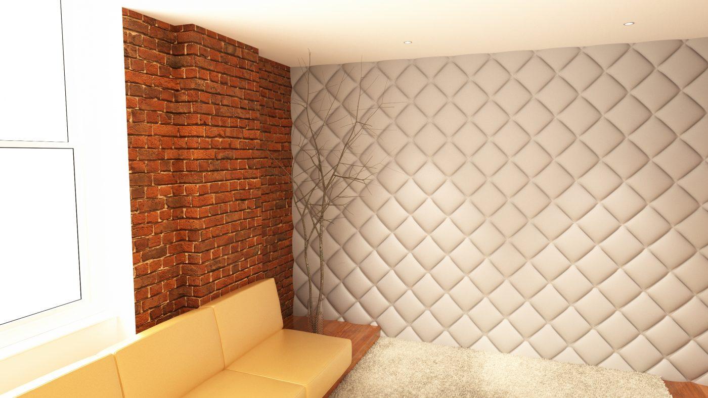 Panou decorativ 3D perete Rombus